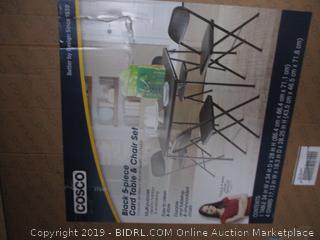 Black 5 Piece Table & Chair Set
