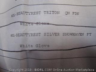 BeautyRest Silver Snowhaven Plush Queen Mattress (current retail $650)