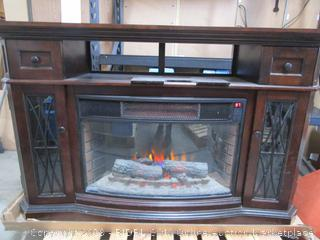 Electric Fireplace Heater- TV Stand PLEASE PREVIEW