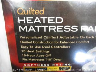 KING HEATED MATTRESS PAD