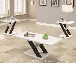 3 Pc Coffee Table Set (Coaster 701011)