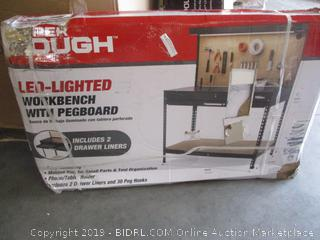 LED-Lighted Workbench with Pegboard