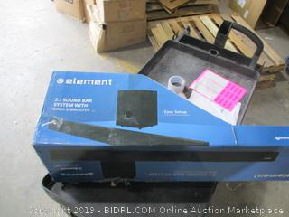 Element 2.1 Sound Bar System with Wired Subwoofer
