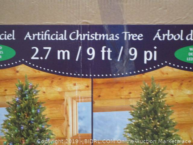 3c5ae06e5e9e9 Click on any picture to see a larger image. 9ft Artificial Christmas Tree  ...