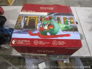 Holiday Living Animated Airblown Helicopter Penguins Inflatable