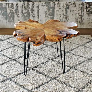 NES Furniture abc10287 Fine Handcrafted Nesting Tables 24 Chocolate