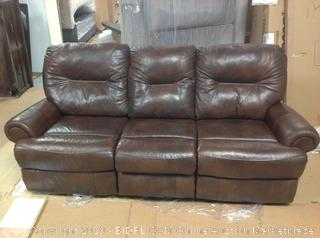 Brinkley Leather Reclining Motion Sofa (Retail $3995)