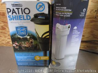 Home Filtration System, Patio Light, Construction Helmet, Tile Cutters, V-Belt, Shower Head, Automatic Ruler & Sink Shaker