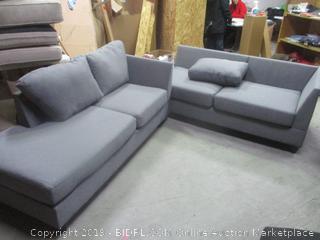 gray sofas set