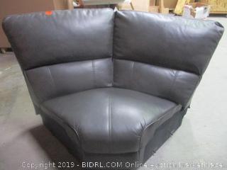 corner section of gray sectional sofa - incomplete set, slight damage