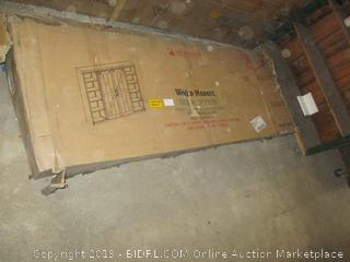 World Market Farmhouse Barn Bookcase / Incomplete Set  Damaged Box
