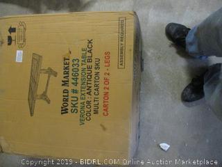 World Market Extension Table Incomplete Set, Damaged Box