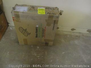 Brooklynn Oval Trestle Dining Table Incomplete Set, Damaged Box