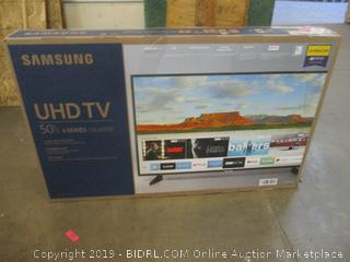 "Samsung UHD TV 50"" Powers On See Pictures"