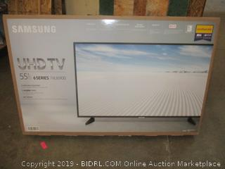 "Samsung UHD TV 55"" Power on See Pictures"