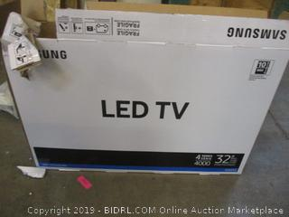 "Samsung LED TV 32""  No Power, No Cords, Cracked Screen"