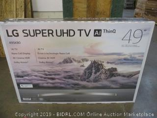 "LG Super UHD TV 49""  Powers ON"