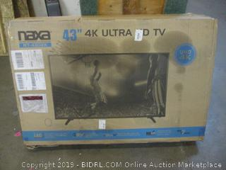 "Naxa 43"" 4K Ultra HD TV  Powers On"