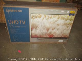 "Samsung UHD TV 50""  Powers On"