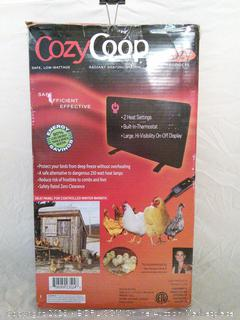 Cozy Coop Heat Panel for Controlled Winter Warmth - powers on
