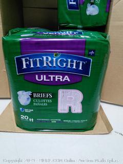 Medline Fit Right Ultra Briefs, Regular