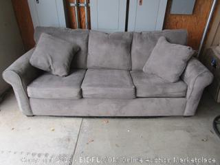 Gray Fabric Couch Sofa