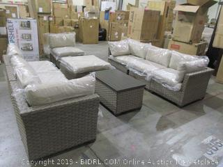 9 piece  Outdoor Sectional with extra covers/ 6 boxes total