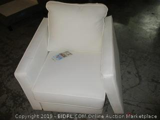 white chair with detachable side