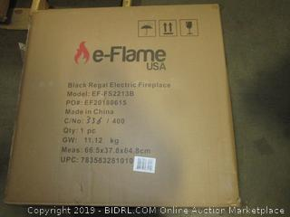 Black Regal Electric Fireplace