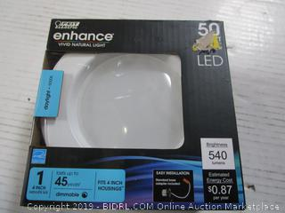 "Feit Enhance LED 50 Watt Replacement / 7.2W Light Bulb 4"" Retrofit Kit"