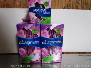 Tampax Pocket Radiant Tampons & Always Pads