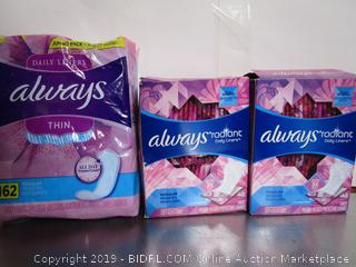 Always Thin & Regular Radiant Daily Liners