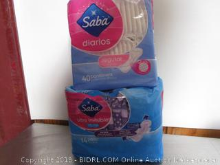Saba Diarios Regular Pantiliners & Ultra Invisible Pads