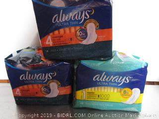 Always Overnight Pads & Ultra Thin
