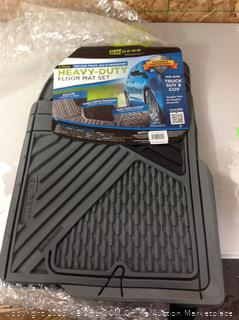 2 Piece Heavy-Duty Floor Mat Set