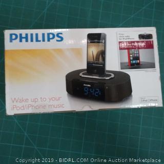 Philips Clock Radio  Wake up to your iPod/iPhone Music