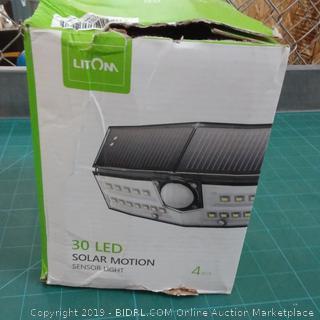 LitOm 30 LED Solar Motion Sensor Light