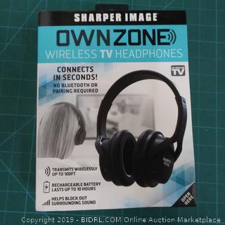 Sharper Image Ownzone Wireless TV Headphones