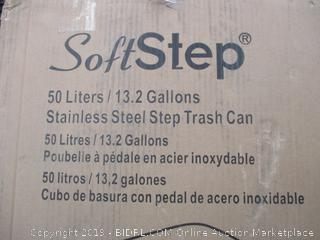 SOFT STEP STAINLESS STEEL STEP TRASH CAN