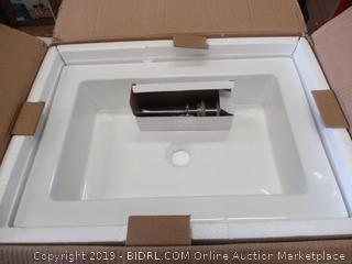 RECTANGULAR CERAMIC BATHROOM SINK