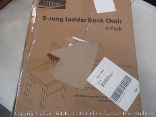 UTEX 2-RUNG LADDER BACK CHAIR