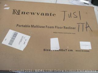 NEWVANTE PORTABLE MULTIUSE FOAM FLOOR RECLINER