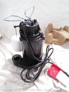 Cast Iron and Steel Sump Pump (online $122)