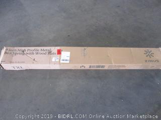 9 in. High Profile Metal Box Spring w/ Wood Slat Size Twin XL