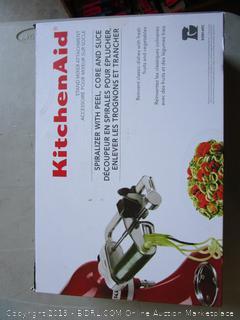 KitchenAid Spiralizer w/ Peel, Core and Slice - Stand Mixer Attachment