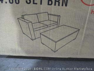 Outdoor Furniture Sofa and Table  See Pictures