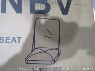 Acrylic Back with Navy Blue Velvet Seat