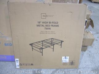 """18"""" High Bi Fold Metal Bed Frame Twin"""