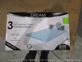 3 Inch Gel Memory Foam Mattress Topper  Twin