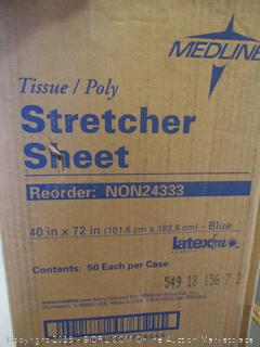 MEDLINE STRETCHER SHEET